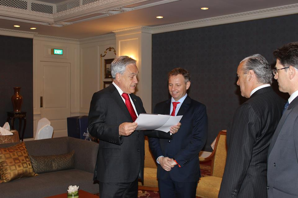 Visit of Chilean President Sebastián Piñera to Thailand to sign FTA (2014)