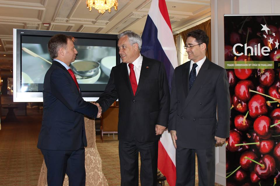 Visit of Chilean President Sebastián Piñera to Thailand to sign FTA (2014)