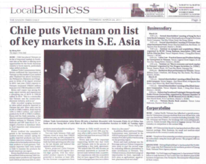 Chile puts Vietnam on list of key markets in S.E. Asia